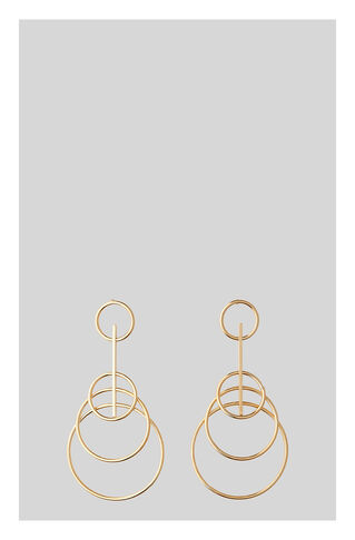 Large Four Hoop Drop Earring, in Gold on Whistles