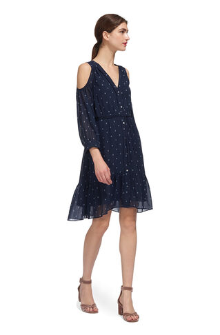 Fleur de Lis Print Dress, in Navy/Multi on Whistles
