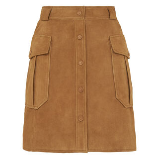 Suede Pocket Skirt, in Tan on Whistles