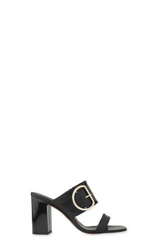 Fairhope Buckle High Sandal, in Black on Whistles