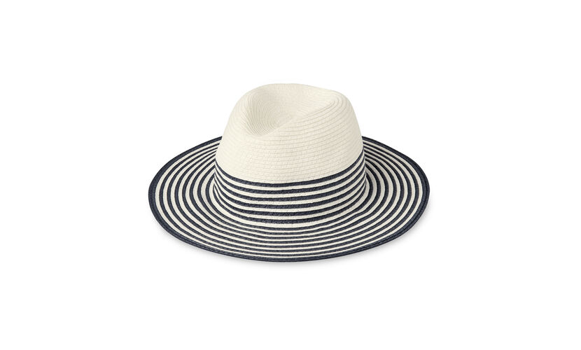 Summer Stripe Fedora Hat, in White/Multi on Whistles