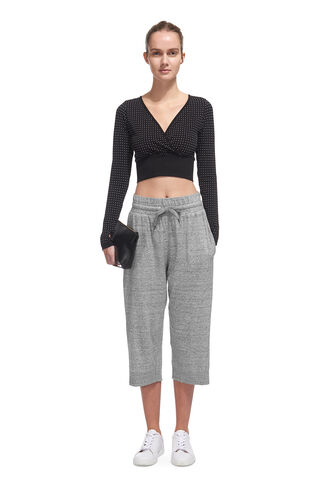 Wide Leg Yoga Trouser, in Grey Marl on Whistles