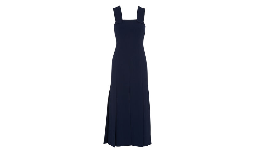 Limited Blanche Split Dress, in Navy on Whistles