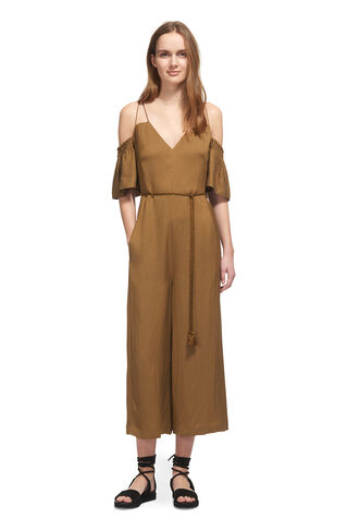 Yasmin Strappy Jumpsuit, in Olive on Whistles