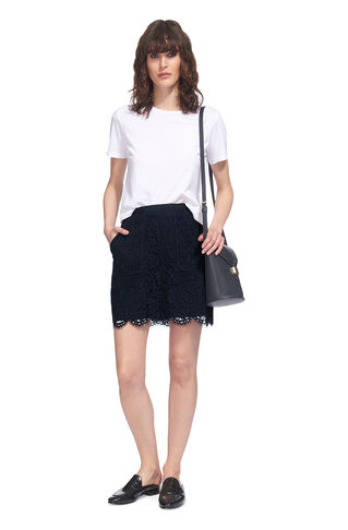 A-line Lace Pocket Skirt, in Navy on Whistles