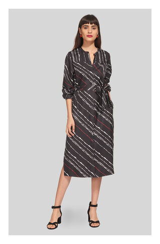 Lightning Print Silk Dress, in Multicolour on Whistles