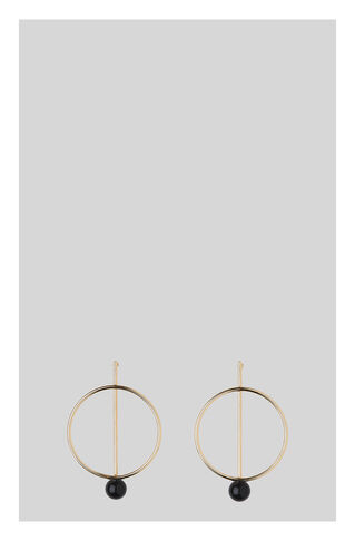 Circle Strike Earring, in Gold on Whistles