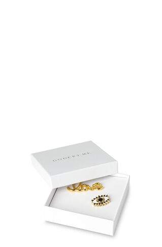 Love Eye Pin Pack, in Gold on Whistles