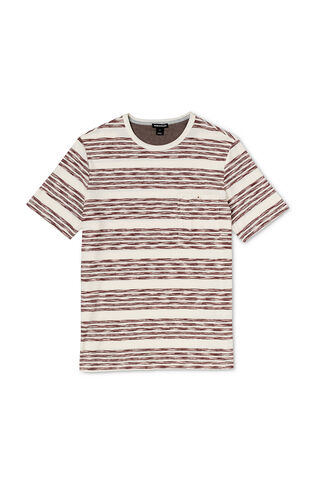 Broken Stripe T-Shirt, in Pink/Multi on Whistles