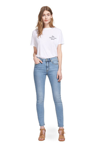 Light Wash Skinny Jean, in Pale Blue on Whistles