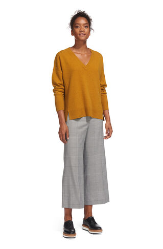 Cashmere V Neck Sweater, in Yellow on Whistles