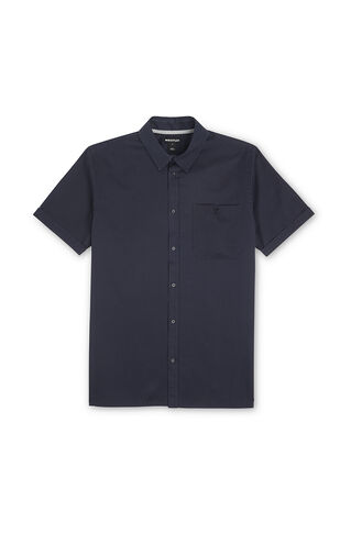 Short Sleeved Twill Shirt, in Navy on Whistles
