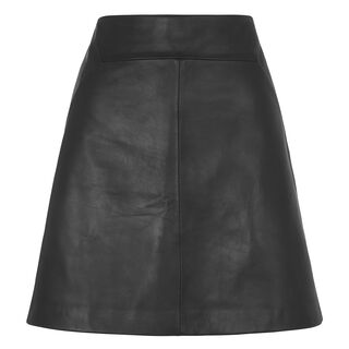 Leather A Line Skirt, in Black on Whistles