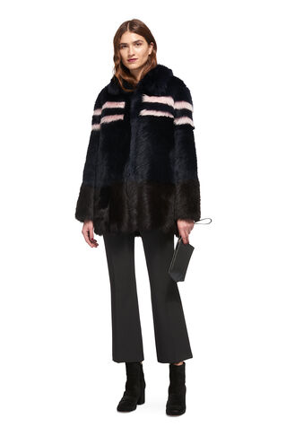 Binx Sheepskin Coat, in Multicolour on Whistles