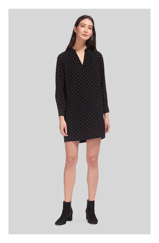 Spot Print Shift Dress, in Black and White on Whistles