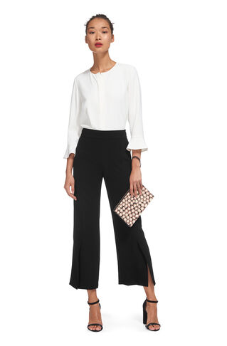 Split Front Trouser, in Black on Whistles