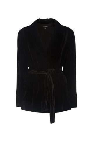 Crushed Velvet Jacket, in Black on Whistles