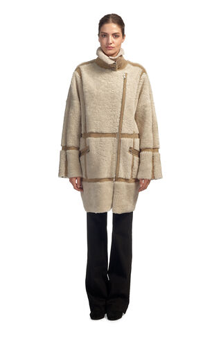 Effie Sheepskin Coat, in Cream on Whistles