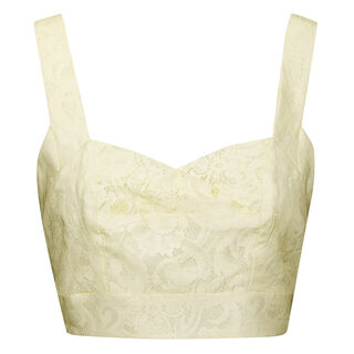 Jasmino Bonded Lace Bra Top, in Yellow on Whistles