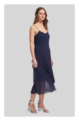 Amber Frill Dress, in Navy on Whistles