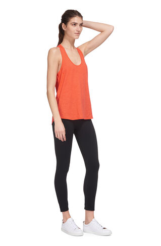 Slub Racer Back Vest, in Coral on Whistles