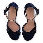 Marquis Block Heel Sandal, in Navy on Whistles