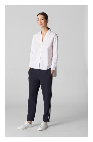 Elyse Side Stripe Trouser, in Navy on Whistles
