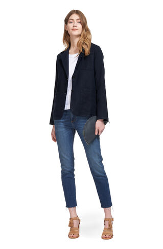 Linen Blazer, in Navy on Whistles
