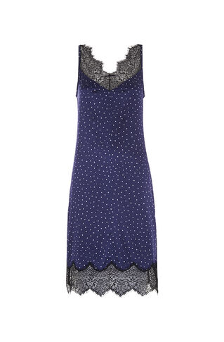 Martha Lace Trim Dress, in Navy on Whistles