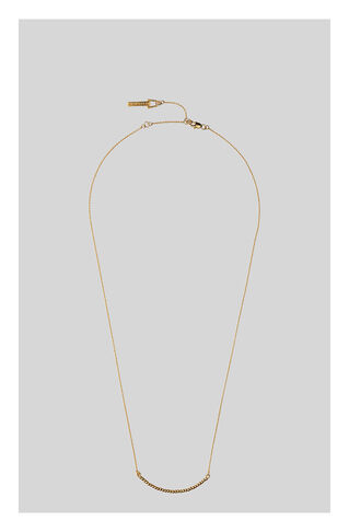 Seed Bead Curve Necklace, in Gold on Whistles
