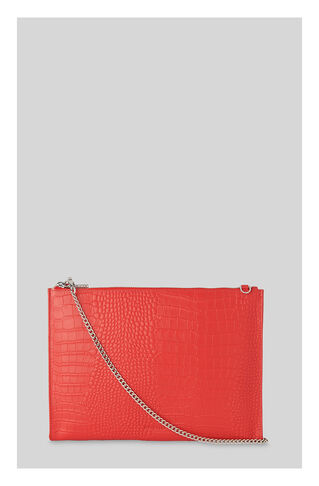 Croc Rivington Chain Clutch, in Red on Whistles