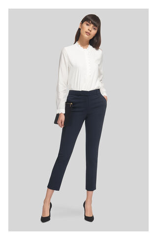 Sadie Slim Leg Trouser, in Navy on Whistles