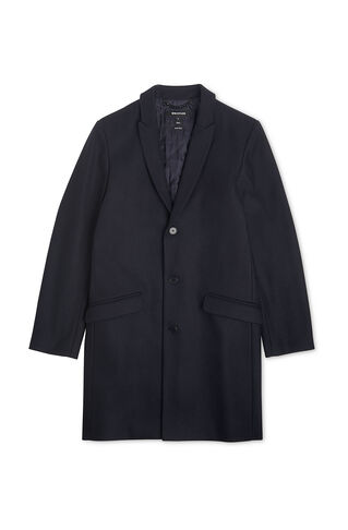 Peaked Lapel Overcoat, in Navy on Whistles