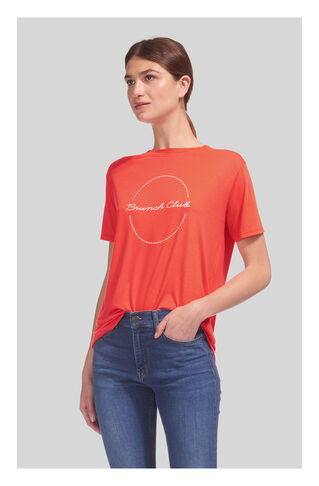 Brunch Club Logo Tshirt, in Red on Whistles