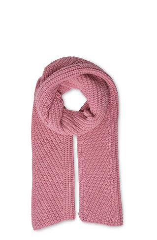 Chunky Marl Rib Scarf, in Pale Pink on Whistles