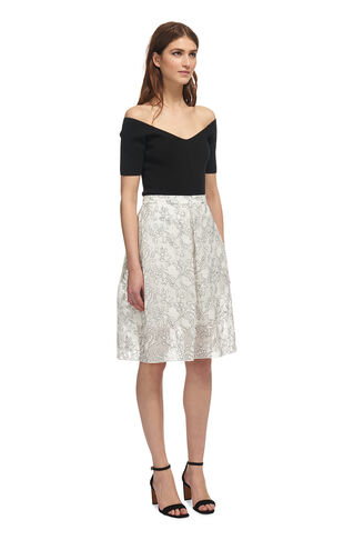 Marrion Full Lace Skirt, in Ivory on Whistles