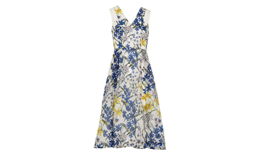 Bluebell Print Organza Dress, in White/Multi on Whistles