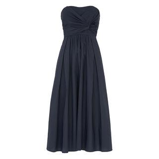 Bardot Tie Poplin Dress, in Navy on Whistles