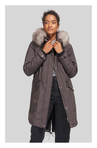 Cassie Casual Parka, in Grey on Whistles