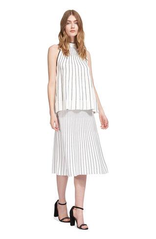 Gradual Stripe Knit Skirt, in Ivory on Whistles