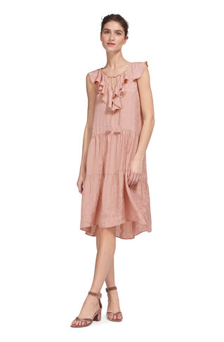 Stephanie Jacquard Dress, in Pale Pink on Whistles