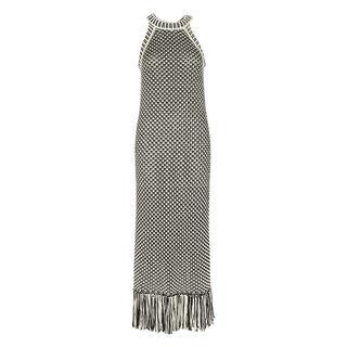 Manderley Crochet Knit Dress, in Black and White on Whistles