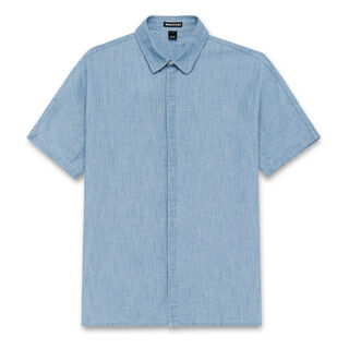 Short Sleeved Chambray Shirt, in Pale Blue on Whistles