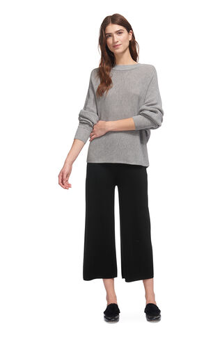 Merino Knitted Culottes, in Black on Whistles