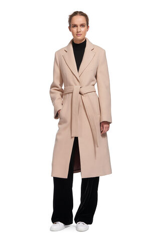 Slim Belted Coat, in Pale Pink on Whistles