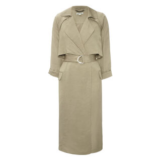 Laura Soft Trench, in Neutral on Whistles