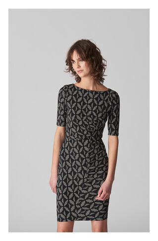 Maria Geo Print Jersey Bodycon, in Black/Multi on Whistles