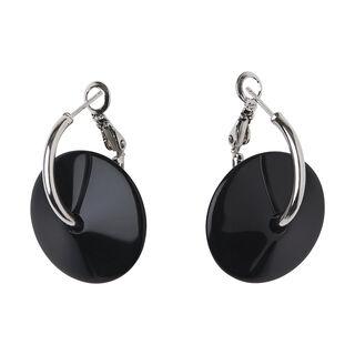Resin Wire Loop Earring, in Black on Whistles
