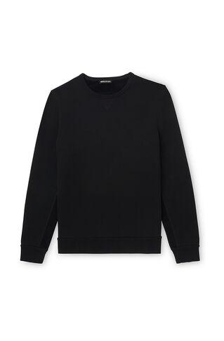 Velvet Stripe Sweatshirt, in Black on Whistles