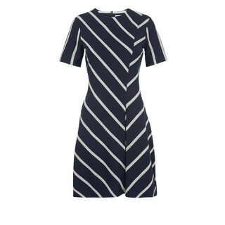 Chevron Stripe Jersey Dress, in Navy on Whistles